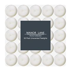 Manor Lane White Tealight 50 pc Set