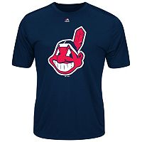 Big & Tall Majestic Cleveland Indians Official Logo Synthetic Tee
