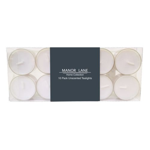 Manor Lane White Tealight 10-piece Set