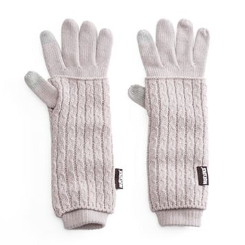 Women's MUK LUKS 3-in-1 Cable-Knit Tech Gloves