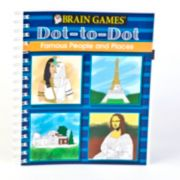 Brain Games Dot-to-Dot Famous People & Places