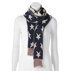 MUK LUKS Patriotic Stars & Stripes Skinny Scarf