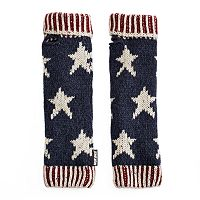Women's MUK LUKS Knit Stars & Stripes Arm Warmers