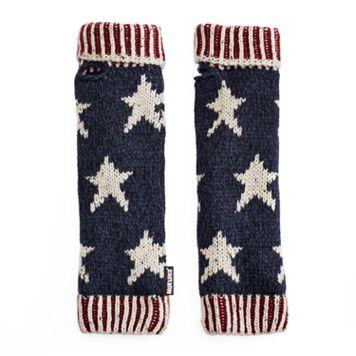 Women's MUK LUKS Knit Stars & Stripes Arm Warmers