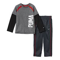 Boys 4-7 PUMA Mock-Layer Logo Tee & Pants Set