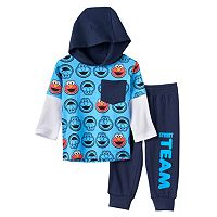 Baby Boy Sesame Street Elmo Graphic Tee & Pants Set