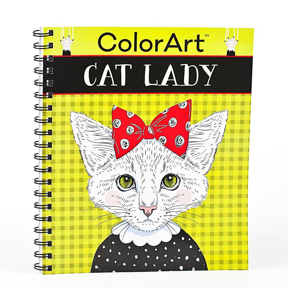 Crazy Cat Lady ColorArt Book By Publications International Ltd
