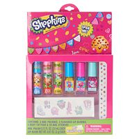 Shopkins Nail Polish, Lip Gloss, Temporary Tattoo & Nail Stickers BFF Beauty Set
