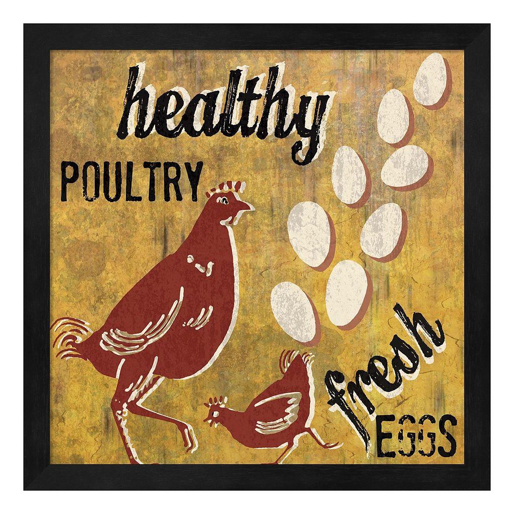 Metaverse Art ''Healthy Poultry'' Framed Wall Art