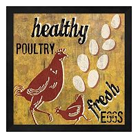 Metaverse Art ''Healthy Poultry'' Framed Wall Art