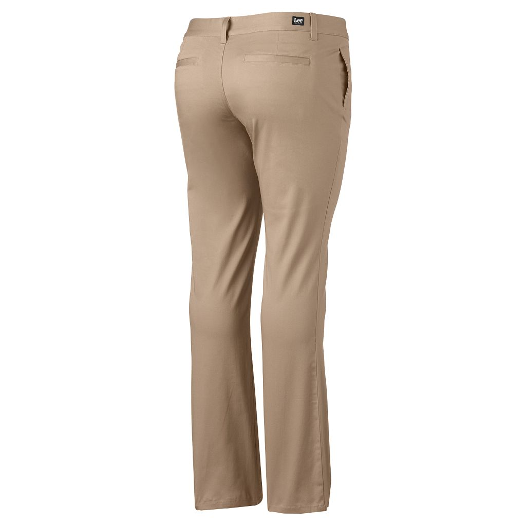 Juniors' Plus Size Lee Uniforms Straight-Leg Pants