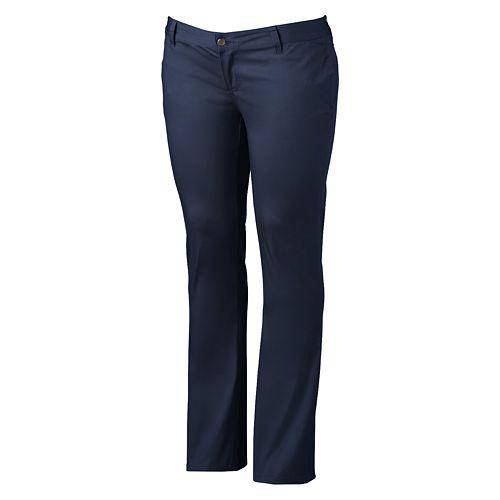 Juniors' Plus Size Lee Uniforms Straight-Leg Pants