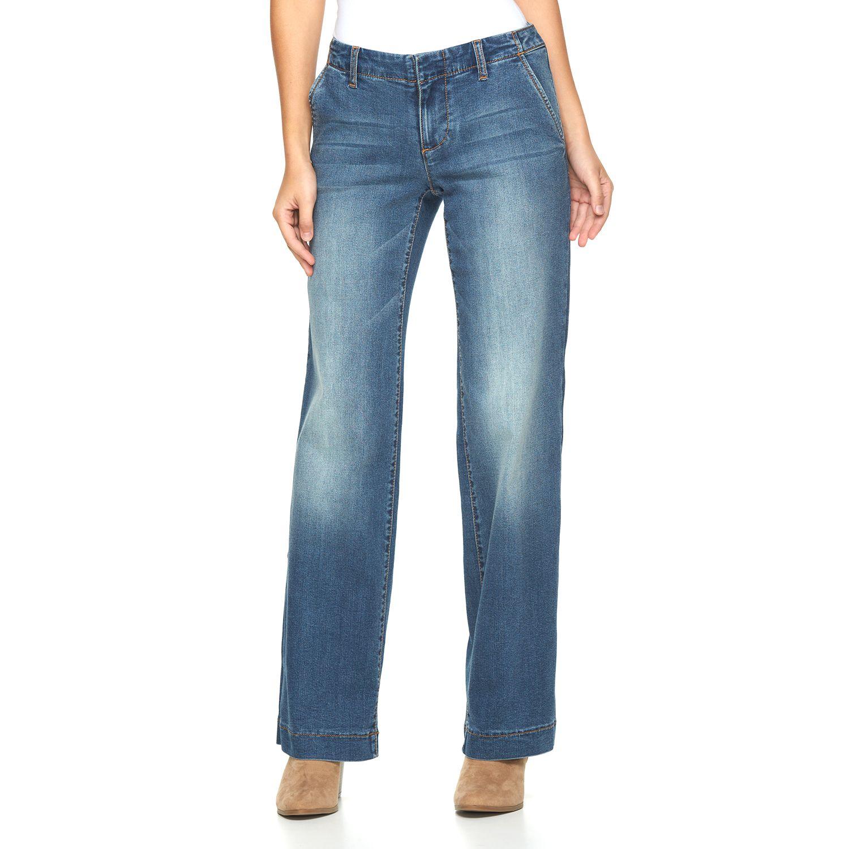 Womens Apt. 9? Modern Fit Wide-Leg Jeans