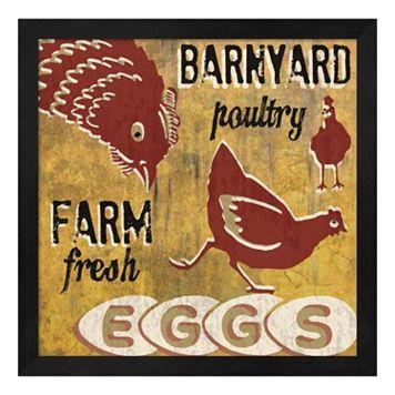 Metaverse Art ''Barnyard Poultry'' Framed Wall Art