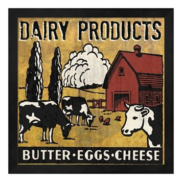 Metaverse Art ''Dairy Products'' Framed Wall Art