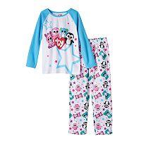 Girls 4-10 TY Beanie Boos Zoey, Pink, Leona & Waddles Raglan Pajama Set