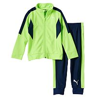 Boys 4-7 PUMA Colorblocked Track Jacket & Jogger Pants Set