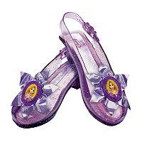 Disney Princess Rapunzel Kids Sparkle Costume Shoes