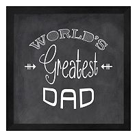 Metaverse Art ''World's Greatest Dad'' Framed Wall Art