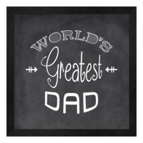 Metaverse Art ''World's Greatest Dad'' Framed Wall Art