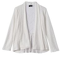 Girls Plus Size 2Hip Lace Back Knit Cardigan