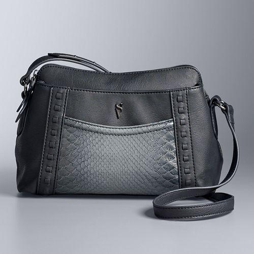 Simply Vera Vera Wang Stanzia Crossbody Bag