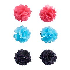 Girls 4-16 Capelli 6-pk. Holiday Flower Clips