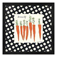 Metaverse Art Simple Carrots Framed Wall Art