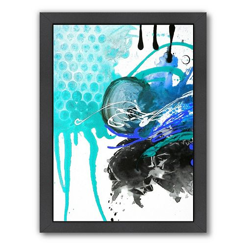 Americanflat Chaos Abstract Framed Wall Art