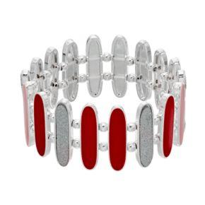 Red & Glittery Link Stretch Bracelet