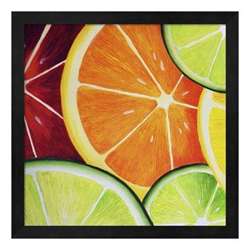 Metaverse Art Sliced Orange Framed Wall Art