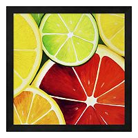 Metaverse Art Sliced Grapefruit Framed Wall Art