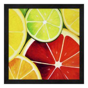 Metaverse Art Sliced Grapefruit Framed Wall Art