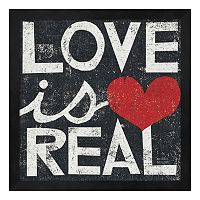 Metaverse Art ''Love is Real'' Framed Wall Art