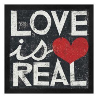Metaverse Art ''Love is Real'' Framed Wall Art