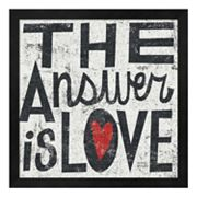 Metaverse Art ''The Answer is Love'' Framed Wall Art