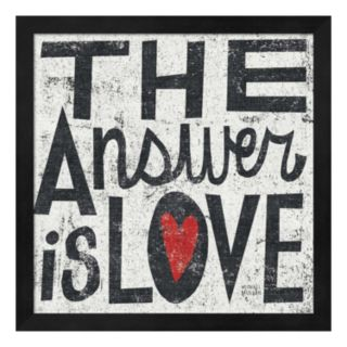 Metaverse Art ''The Answer is Love'' Framed Wall Art