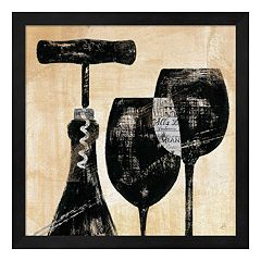Metaverse Art Wine Selection II Framed Wall Art