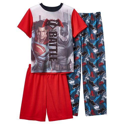 165e139fcb35e Boys Batman v Superman  Dawn of Justice 3-Piece Pajama Set