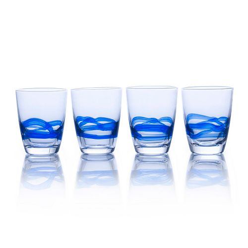 Mikasa Admiral Cobalt 4-pc. Double Old-Fashioned Glass Set