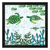 Metaverse Art Turtles Framed Wall Art