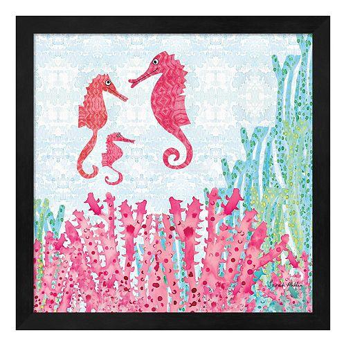 Metaverse Art Seahorses Framed...