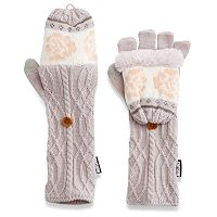 Women's MUK LUKS Cottage Rose Convertible Flip-Top Tech Mittens