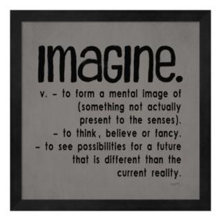 """Metaverse Art """"Imagine"""" Framed Wall Art"""
