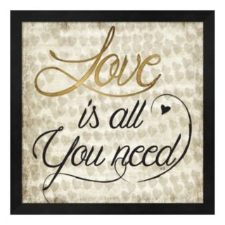 """Metaverse Art """"Love Is All You Need"""" Framed Wall Art"""