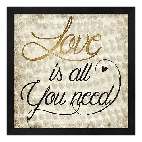 "Metaverse Art ""Love Is All You Need"" Framed Wall Art"
