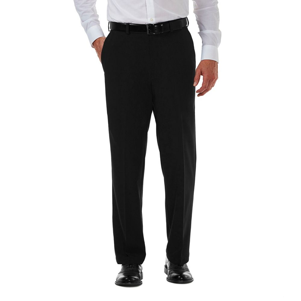 Men's Haggar® Cool 18® PRO Classic-Fit Wrinkle-Free Flat-Front Expandable Waist Pants