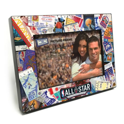 """2016 NBA All-Star Game Ticket Collage 4"""" x 6"""" Wooden Frame"""