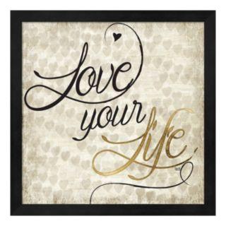 """Metaverse Art """"Love Your Life"""" Framed Wall Art"""