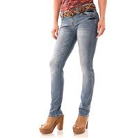 Juniors' Wallflower Belted Legendary Bootcut Jeans